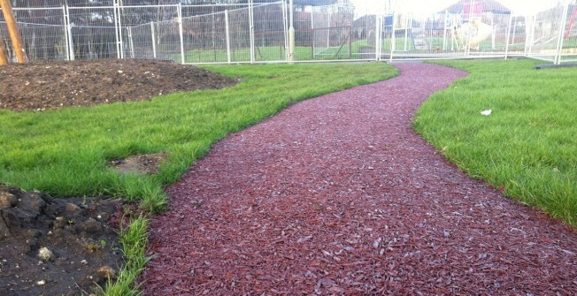 Rubber Mulch Pathway